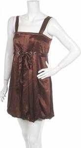Brązowa sukienka Floyd mini