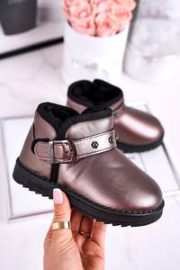 Złote buty dziecięce zimowe Apawwa dla dziewczynek