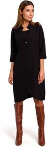 Czarna sukienka Style z długim rękawem
