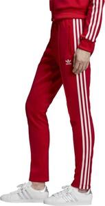 stabilna jakość Pierwsze spojrzenie taniej Czerwone spodnie damskie Adidas, kolekcja jesień 2019