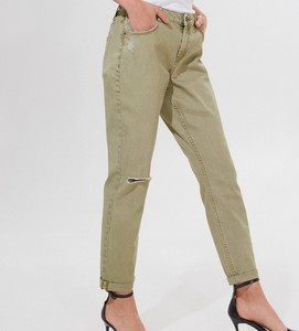 Zielone jeansy Mohito w street stylu