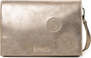 Złota torebka Desigual na ramię mała