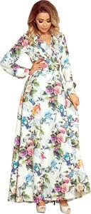 Sukienka NUMOCO z tkaniny z dekoltem w kształcie litery v maxi