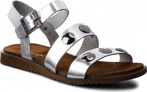 Sandały Maciejka ze skóry z klamrami