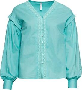 Turkusowa koszula bonprix RAINBOW z dekoltem w kształcie litery v