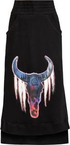 Czarna spódnica Robert Kupisz z nadrukiem midi z bawełny