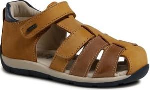 Brązowe buty dziecięce letnie Lasocki Kids dla chłopców na rzepy