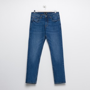 Granatowe jeansy Sinsay w stylu casual