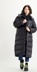 Czarny płaszcz Levis w stylu casual