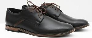 Czarne półbuty Bednarek Polish Shoes sznurowane ze skóry