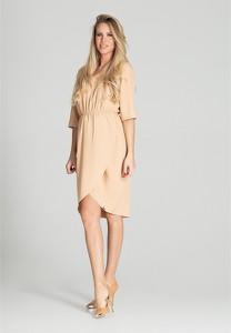 Sukienka Figl w stylu casual z dekoltem w kształcie litery v