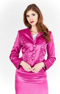 Różowa marynarka Fokus w stylu casual