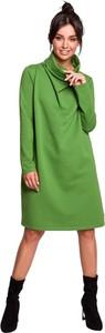 Zielona sukienka Be z dzianiny