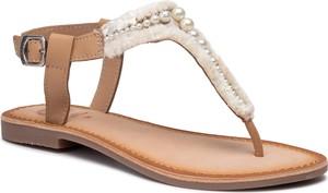 Brązowe sandały GIOSEPPO w stylu casual z klamrami