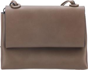 Brązowa torebka Lecharme mała w stylu casual