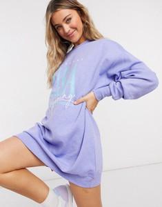 Fioletowa sukienka Asos z dresówki