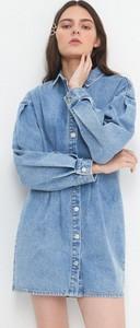 Niebieska sukienka House mini