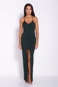 Zielona sukienka Dursi dopasowana