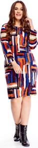 Sukienka N/A midi dla puszystych w stylu casual