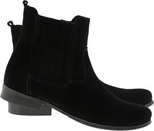 Czarne botki Lafemmeshoes ze skóry w stylu klasycznym