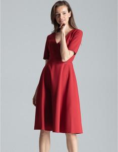 Czerwona sukienka Figl