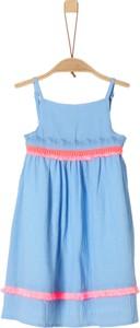 Niebieska sukienka dziewczęca S.Oliver