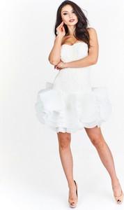 Sukienka Betty M bez rękawów gorsetowa mini