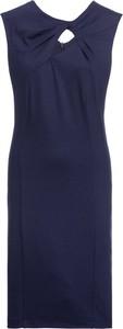 Niebieska sukienka bonprix BODYFLIRT bez rękawów mini z dżerseju