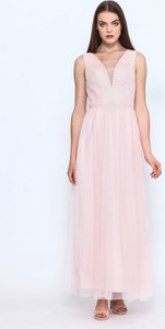 Sukienka VISSAVI maxi z dekoltem w kształcie litery v