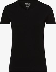 Niebieski t-shirt Marie Lund z krótkim rękawem