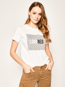 T-shirt Red Valentino z krótkim rękawem z okrągłym dekoltem