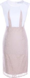 Sukienka Fokus z okrągłym dekoltem z krótkim rękawem midi