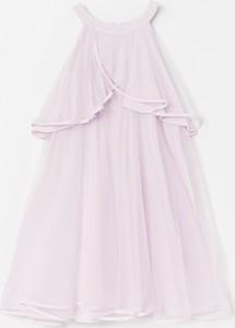 Różowa sukienka Reserved mini z tiulu