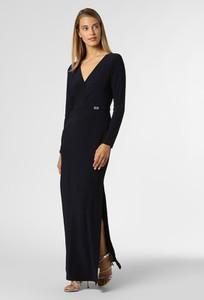 Sukienka Ralph Lauren z długim rękawem maxi z dekoltem w kształcie litery v