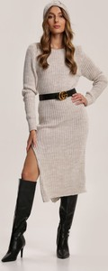 Sukienka Renee midi w stylu casual z długim rękawem