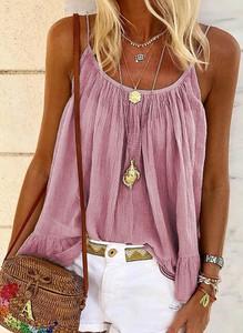 Różowa bluzka Sandbella w stylu boho