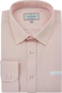 Różowa koszula Victorio z długim rękawem