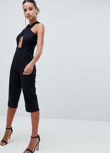Czarny kombinezon Ax Paris w młodzieżowym stylu z długimi nogawkami