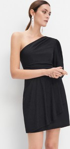 Czarna sukienka Mohito mini asymetryczna
