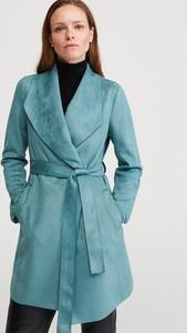 Płaszcz Reserved z zamszu