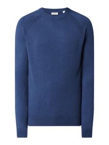 Niebieski sweter Esprit z kaszmiru z okrągłym dekoltem