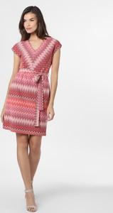 Różowa sukienka comma, z krótkim rękawem