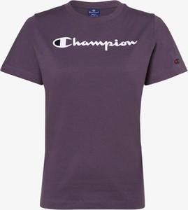 Fioletowy t-shirt Champion z okrągłym dekoltem