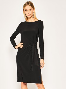 Sukienka DKNY z długim rękawem z okrągłym dekoltem w stylu casual