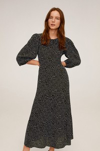 Sukienka Mango z tkaniny z długim rękawem