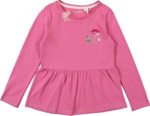 Różowa bluzka dziecięca Sanetta Kidswear z dżerseju