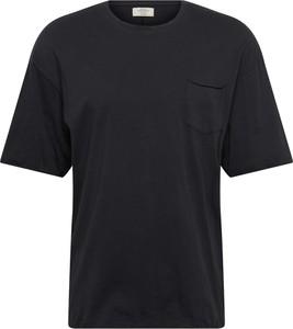 Czarny t-shirt Jack & Jones z krótkim rękawem z bawełny w stylu casual
