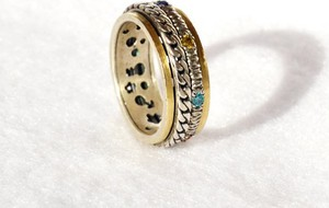 Astorga Designerska srebrna obrączka, zdobiona - hand made na wysokim poziomie