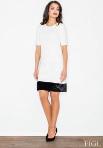 Sukienka Figl ołówkowa z krótkim rękawem z tkaniny