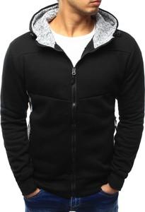 Czarna bluza dstreet z tkaniny w street stylu